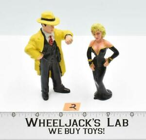 "Dick Tracy & Breathless Mahony #2 PVC Disney Applause 4"" Vinyl Figures"