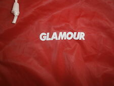 GLAMOUR MAGAZINE PONCHO RAIN COAT Slicker Boating PVC vtg 70s 80s Red Hooded OS