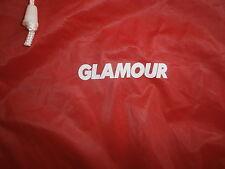 GLAMOUR MAGAZINE PONCHO RAIN COAT Slicker Boating PVC vtg 70s 80s Red Hooded OS
