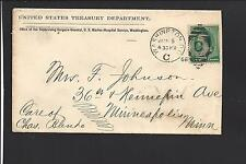 WASHINGTON, DISTRICT OF COLUMBIA COVER, 1889 ,ADVT. U.S. TREASURY DEPARTMENT.