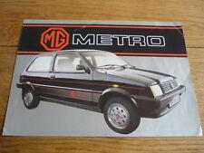 MG METRO SALES BROCHURE 1983 FRENCH LANGUAGE