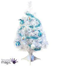 Disney Frozen White Festive Christmas 60cm Xmas Fibre Optic Tree Baubles Tinsel