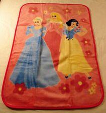 Disney Princess - Throw Blanket - Cinderella, Aurora & Snow White - Pink - NEW