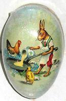 "Vintage Paper Mache Easter Egg (3.5x2.5"") BREAKFAST COOK MINT SEALED German Made"