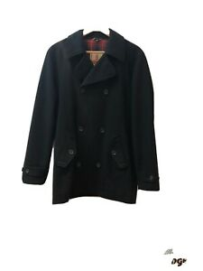 Baracuta Black Wool Peacoat Men's Small/38, Classic, Mod, 60s