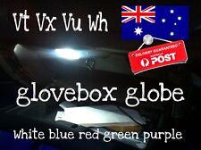 2x cool white Glovebox / Boot Led Globe Suit Vt Vx Vu Vy Vz Wh & More.