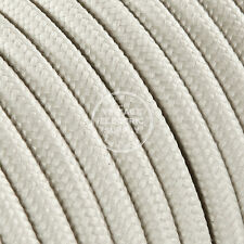 Ivory Round Cloth Covered Electrical Wire - Braided Rayon Fabric Wire