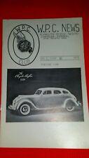 W.P.C. CHRYSLER CLUB news letter featuring 1934 Chrysler Airflow