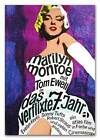 Marilyn Monroe QUALITY CANVAS PRINT Seven Yr Itch Vintage German Movie Poster