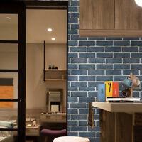 2Pcs 3D Brick Stone Wall Stickers Self Adhesive Wallpaper Home Kitchen Decor US