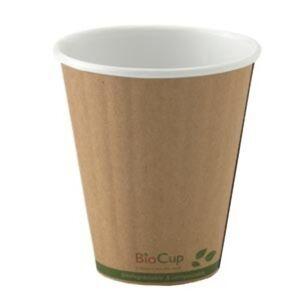 8oz (90mm) Double Wall Kraft Bio Coffee Cup  1000 pcs