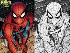 Marvel Comics #1000 Art Adams Amazing Color/ Virgin Sketch Variant Set In Hand!