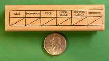 Writing Traits Grid - Teacher's Writing Rubber Stamp, Wood Mounted