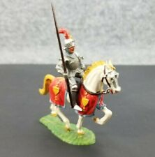 VINTAGE ELASTOLIN TOY SOLDIER KNIGHT WITH MOUNT 4 CM MADE IN W. GERMANY