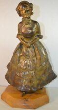 Vintage Goldsheider Art Deco/Art Nouveau Style Bronze Girl (signed and sealed)