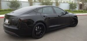 BlingLights Smoked Tail Light Overlays Lamp Film Covers Kit for Tesla Model S