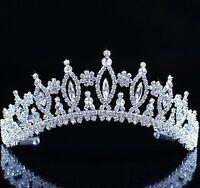 Goddess Wedding Tiara Clear Rhinestone Crystal Crown Pageant Prom Party Headband