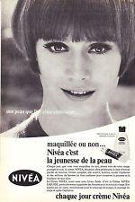 PUBLICITE ADVERTISING 014 1967 NIVEA crème de jour