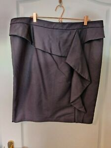 Beautiful black short pencil skirt from Gok for TU size 22