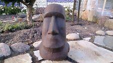 Moai Kopf Steinfigur 30 cm Höhe Osterinseln Lavastein Skulptur Steinfigur Garten