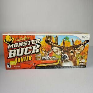 Nintendo Wii Cabelas Monster Buck Hunter Top Shot Rifle W/Gun Sealed RARE
