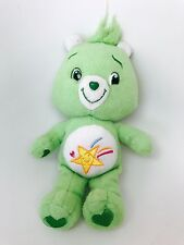 """Oopsy"" CARE BEAR -  2007 JAKKS, EUC Size 10"" Green Shooting Star Hearts"