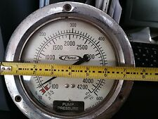 """Marsh Instruments 0-600 psi 6"""" Gauge -100-4200 kPa - Used """"As Is"""" Not Tested"""