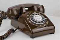 Professionally Restored & Working - Vintage Antique Telephone - Brown 500