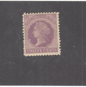 PRINCE EDWARD ISLAND # 16 VF-MVLH 12cts 1868-70 QN VICTORIA /VIOLET CV $10