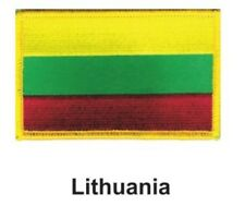 """LITHUANIA FLAG EMBROIDERED PATCH - IRON-ON - NEW 2.5 x 3.5"""" FREE SHIPPING"""