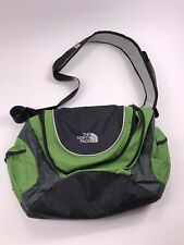 RARE!  THE NORTH FACE Unisex green Nylon AGENT Padded LAPTOP Messenger Tote BAG