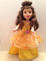 """Disney Princess Belle Doll 18"""" Beauty Beast Gold Ball Gown Jakks Pacific 2010"""