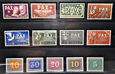 Schweiz - 1945 - Block 11, PAX-Satz, Patria ** - Mi 693.--