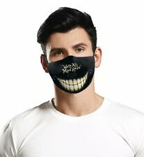 washable face mask adult Men's  Black Were All Mad Here