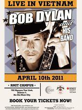 "Bob Dylan Vietnam 2011 16"" x 12"" Photo Repro Concert Poster"