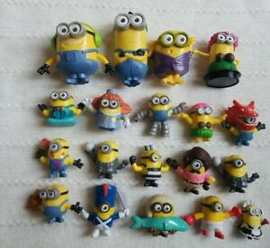 Minions Collector Lot Of 19 Characters Toys Figures Super Cute