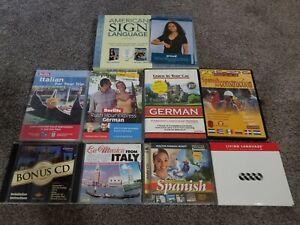 Language Software Spanish Italian German Sign Language lot - BB1