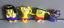 Spongebob Squarepants Toy Figure Cake Toppers SET OF 3 + BONUS Straw Topper