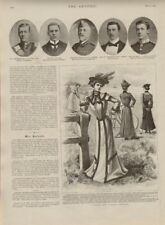 "1901 large print  "" summer & cycling costumes  """