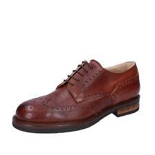 scarpe uomo FDF SHOES 44 EU classiche marrone pelle BZ392-F