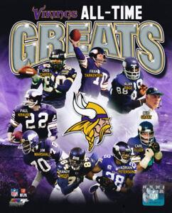 Minnesota Vikings All-Time Greats 8x10 Photo Fran Tarkenton Cris Carter