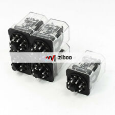 5Pcs JQX-2C DC Power Relay 8 Pins Coil AC 220V 7.5A 250V DC 10A 30V