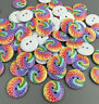 DIY  Multicolor Round Wooden  Buttons Fit Sewing Scrapbooking 2 Holes 20mm