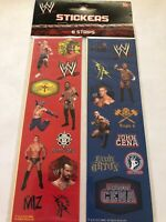 WWE Wrestling Stickers (8 strips) Per Pack.  Brand New