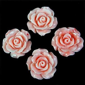 K17349 4pcs 20mm Light Orange Tridacna Handmade Flower Pendant Bead