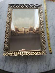 Vintage Brass Ornate wall Mirror
