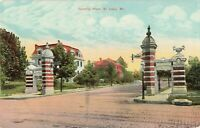 Postcard Compton Place St Louis Missouri