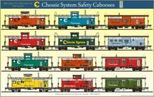CHESSIE SYSTEM SAFETY CABOOSES POSTER