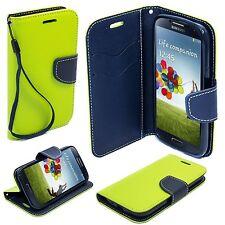 * Book Case Hülle Handy Cover Etui Tasche LederImitat Samsung Galaxy S5 Neo GRÜN
