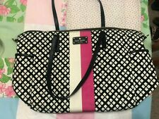 Authentic Kate Spade Baby Bag Large Tote Bag - Black, Pink, White Spade Design